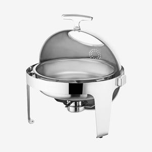 自助餐炉圆形透视