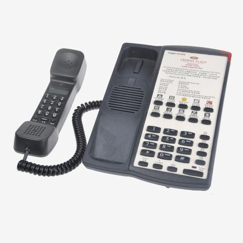 酒店电话机客房固定电话座机卡纸logo 双拨号电话机指示灯