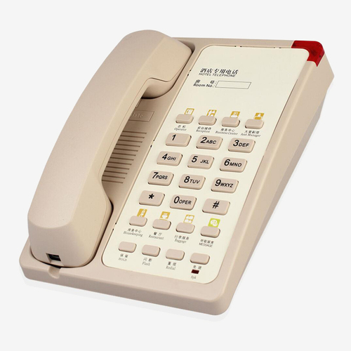 酒店电话机客房固定电话座机卡纸logo一键拨号指示灯