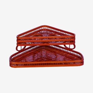 竹编用品盒红