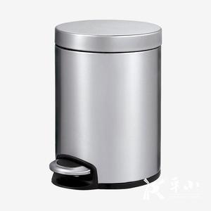 EKO静赏圆形脚踏静音环境垃圾桶