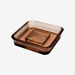 树脂定制方形透明茶色皂碟(拍前联系客服)