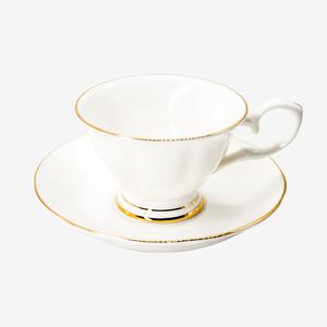 金边骨质瓷咖啡杯咖啡碟